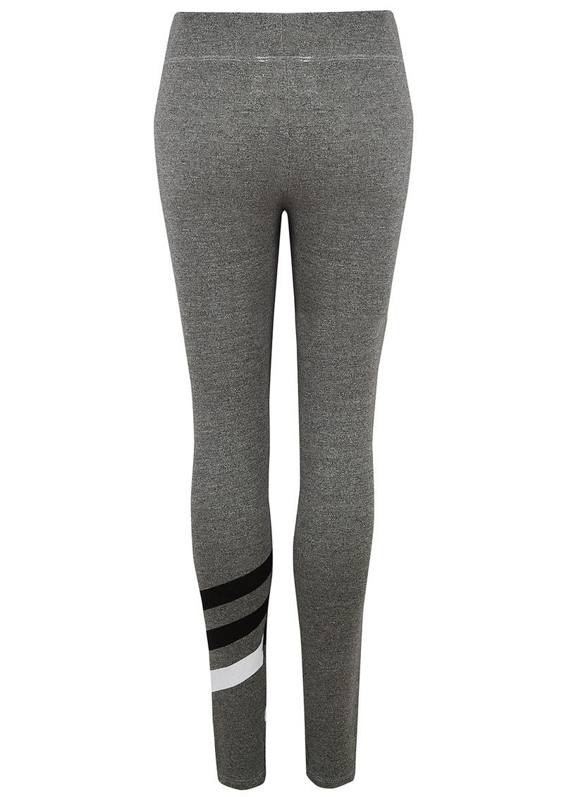 SUNDRY Striped Yoga Pants - Heather Grey main image