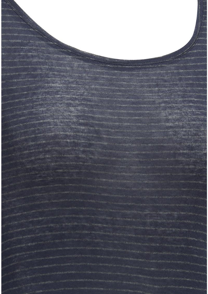 American Vintage Massachusetts Long Sleeve Stripe Tee - Navy main image