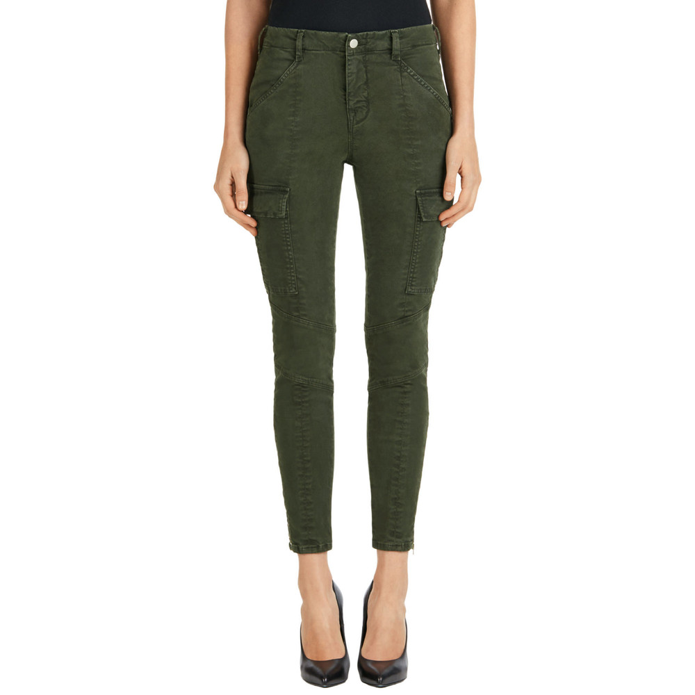 Houlihan Mid Rise Cargo Jeans - Distressed Caledon