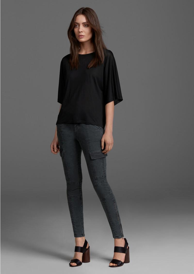 J Brand Houlihan Mid Rise Cargo Jeans - Distressed Chrome main image