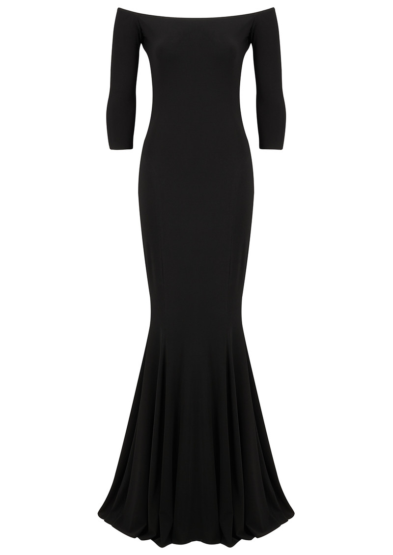 KAMALI KULTURE Off Shoulder Fishtail Gown - Black main image