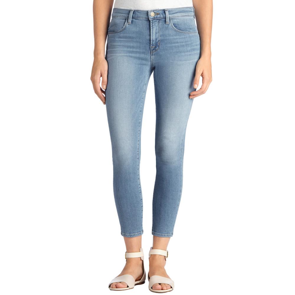 Alana Crop Skinny Jeans - Ocean Side