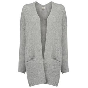 Boolder Knitted Long Cardigan - Rock Melange