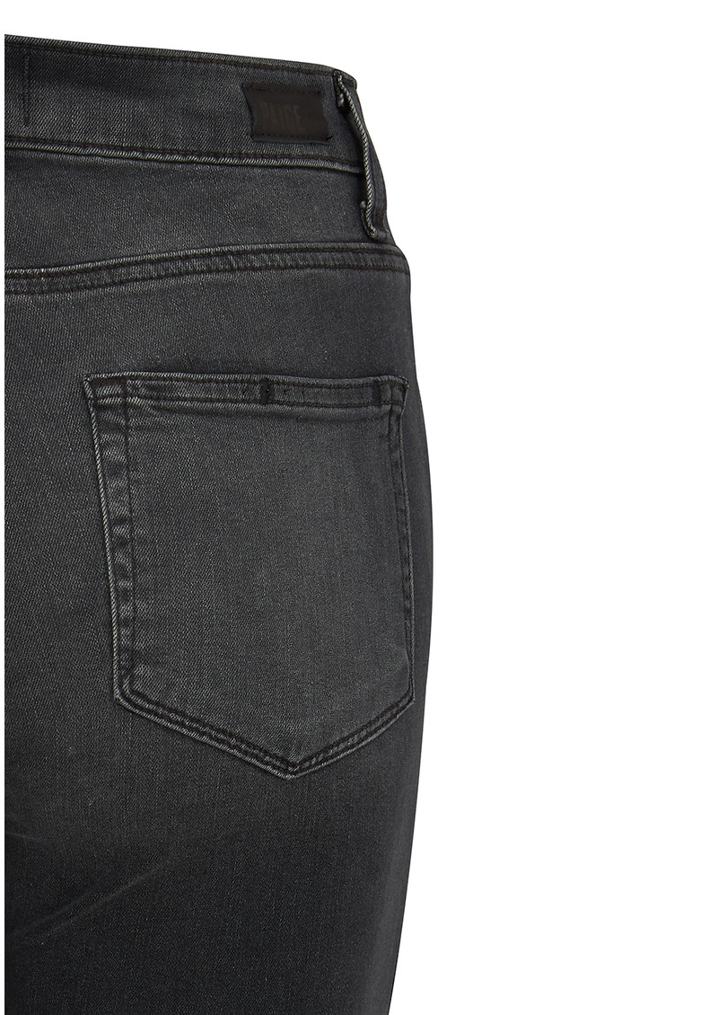 Paige Denim High Rise Edgemont Skinny Jeans - Smoke Grey main image