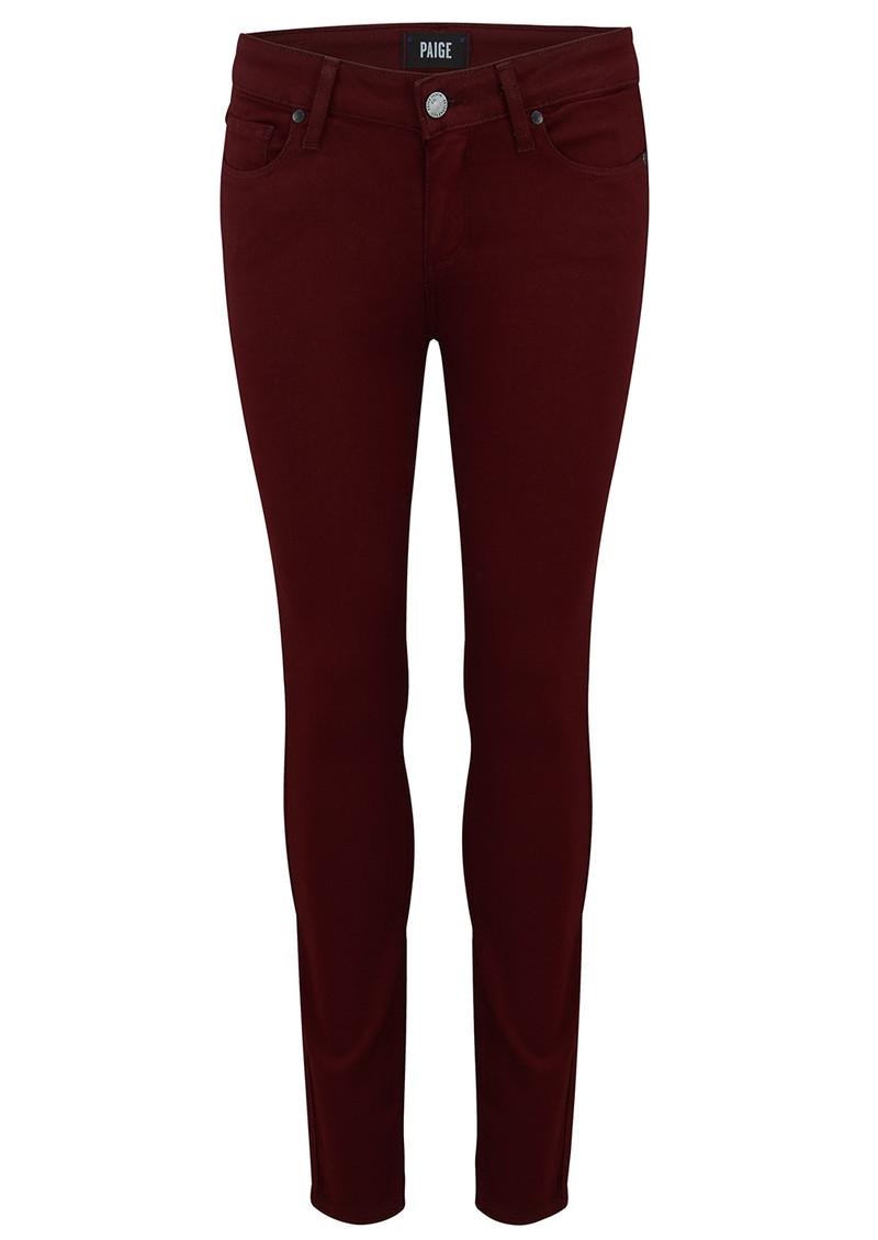 Paige Denim Verdugo Ankle Skinny Jeans - Deep Syrah main image
