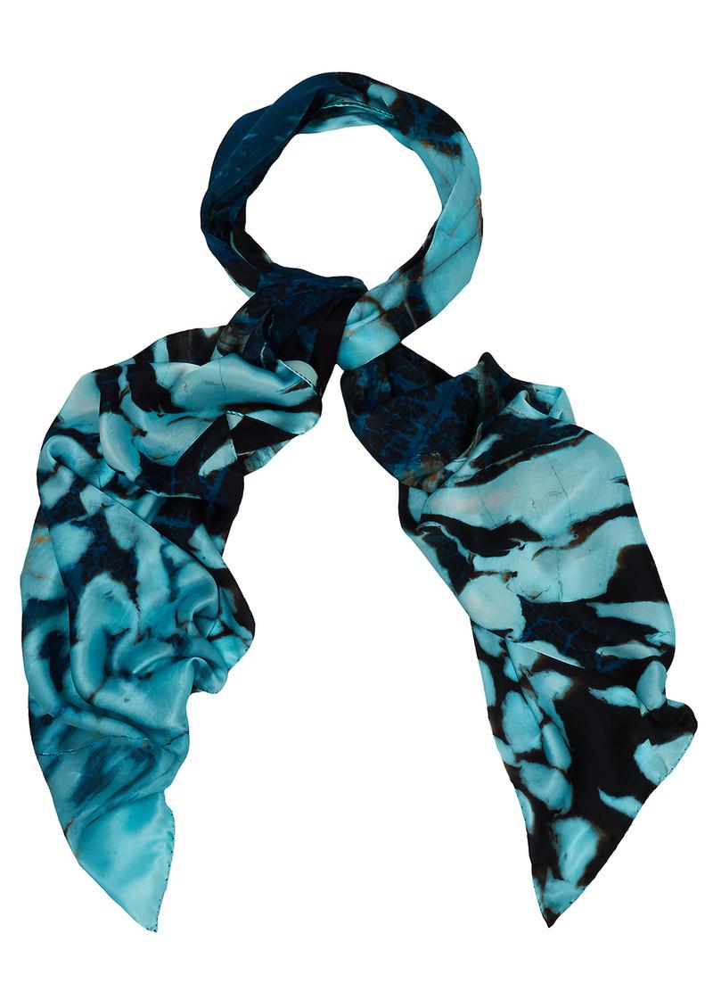 weston scarves fossil wood leaf mineral silk scarf