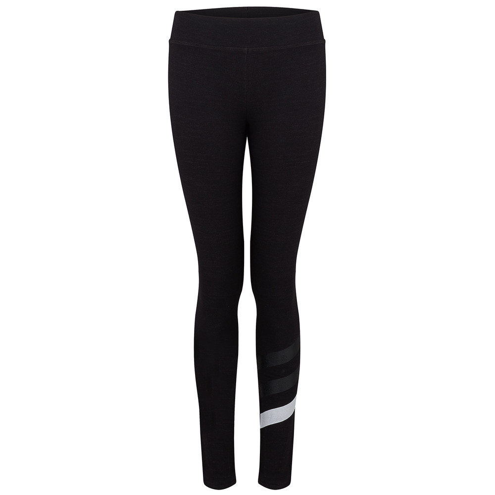 Stripes Yoga Pant - Old Black