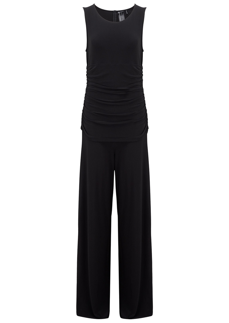 KAMALI KULTURE Sleeveless Shirred Jumpsuit - Black main image