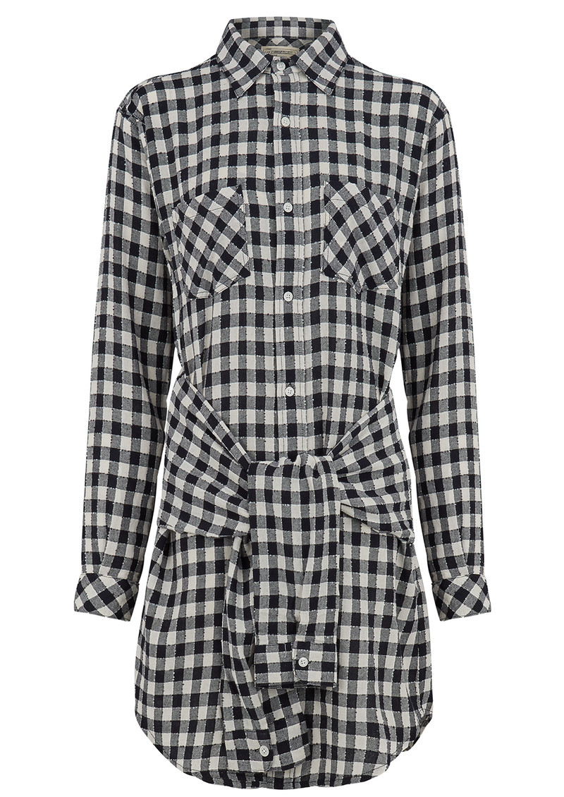 Current/Elliott The Twist Shirt Dress - Sherlock Plaid main image