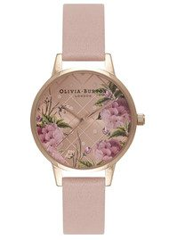 Olivia Burton Dot Design Floral Watch - Dusty Pink & Rose Gold
