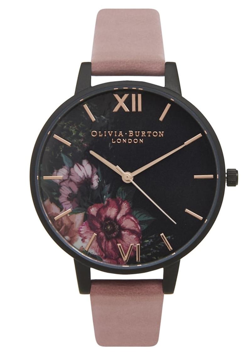 Olivia Burton After Dark Black Dial Floral Watch - Rose & Rose Gold main image