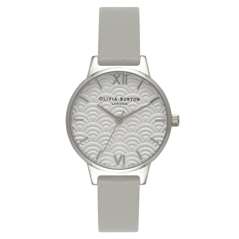 Scalloped Design Midi Dial Watch - Grey & Silver