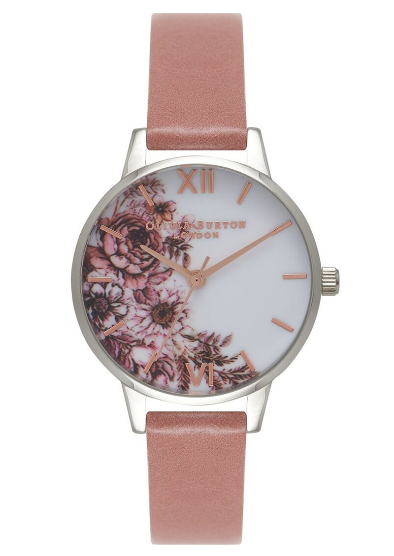 Olivia Burton Flower Show Midi Dial Watch - Rose, Silver & Rose Gold main image
