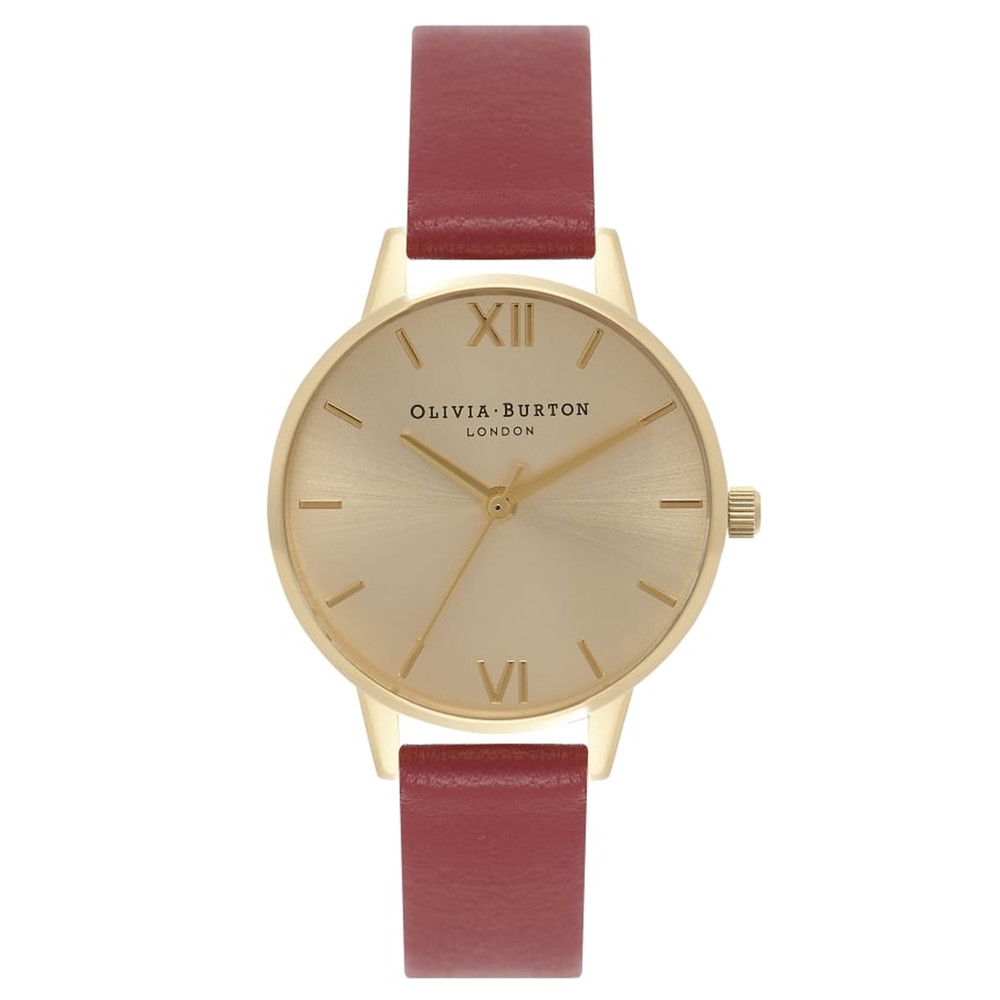 Midi Dial Watch - Red & Gold