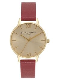 Olivia Burton Midi Dial Watch - Red & Gold