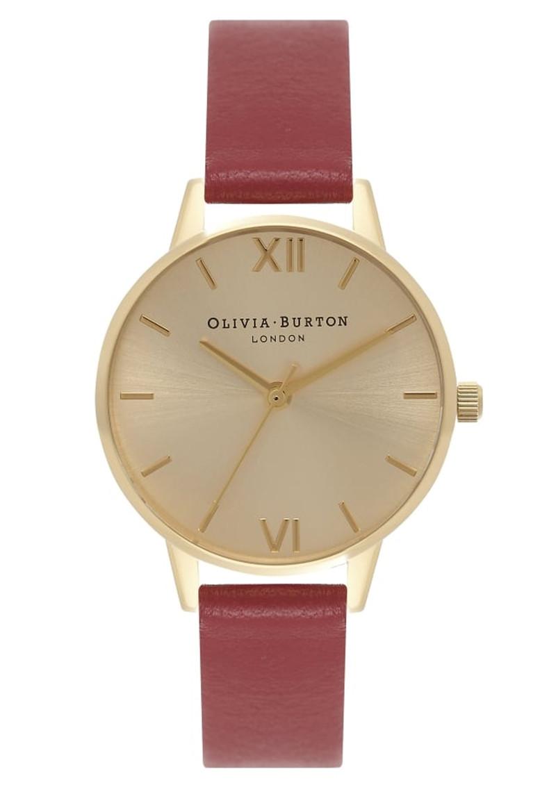 Olivia Burton Midi Dial Watch - Red & Gold main image