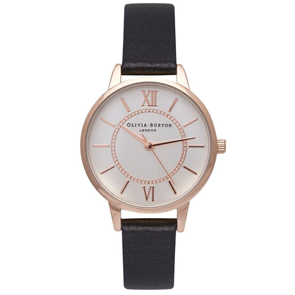 Wonderland Watch - Black, Rose Gold & Silver