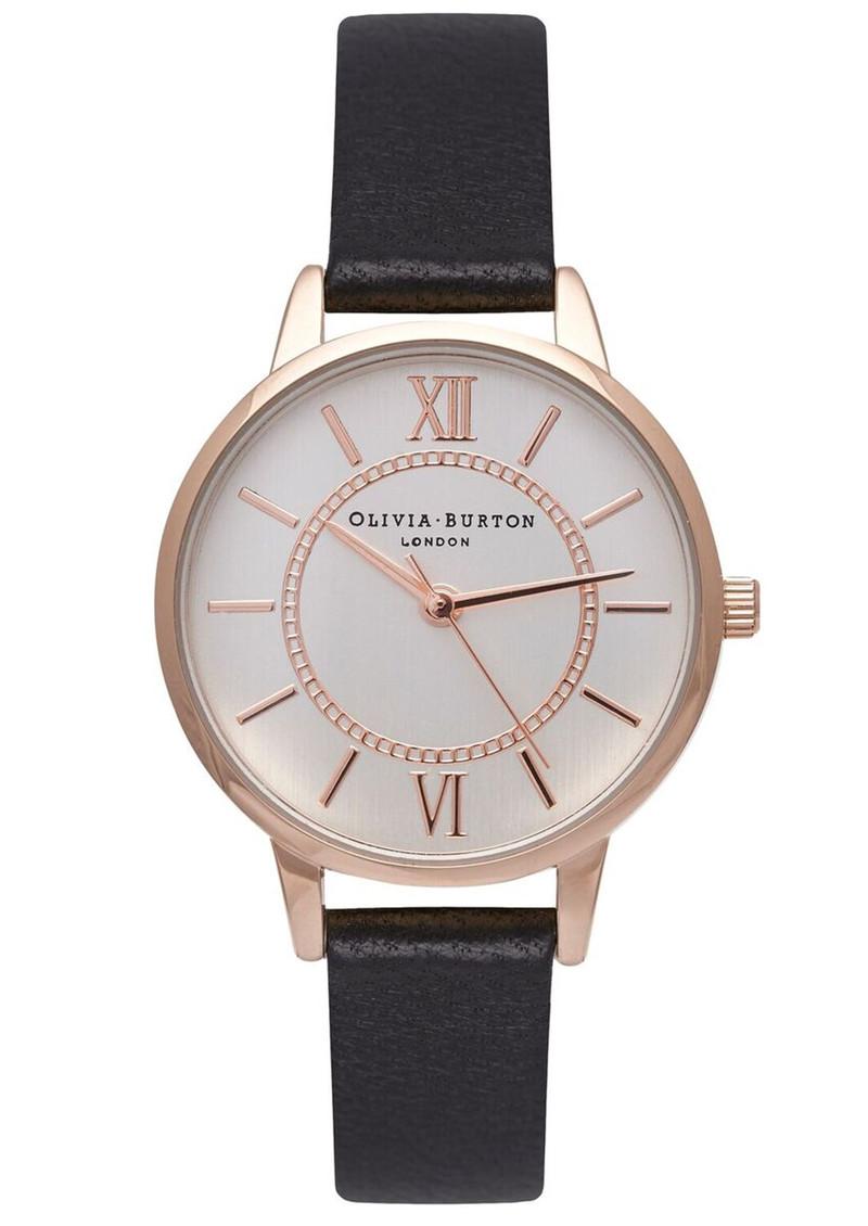 Olivia Burton Wonderland Watch - Black, Rose Gold & Silver main image