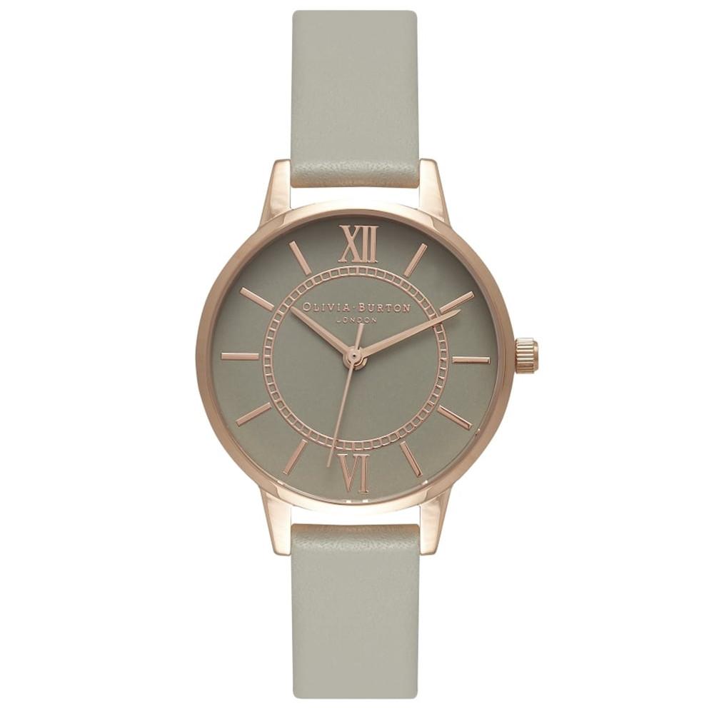 Wonderland Grey Dial Watch - Rose Gold