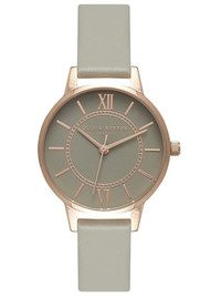 Olivia Burton Wonderland Grey Dial Watch - Rose Gold