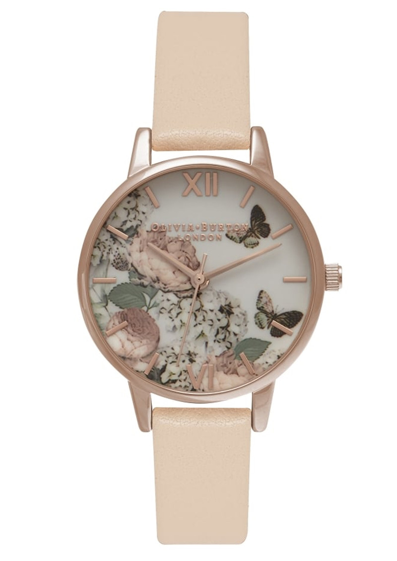 Olivia Burton Enchanted Garden Watch - Nude Peach & Rose Gold main image