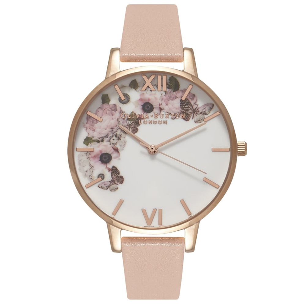 Enchanted Garden Watch - Dusty Pink & Rose Gold