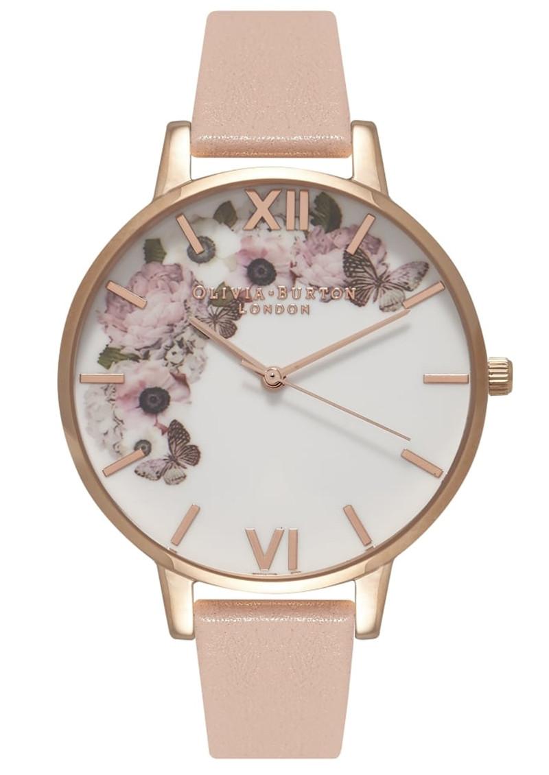 Olivia Burton Enchanted Garden Watch - Dusty Pink & Rose Gold main image