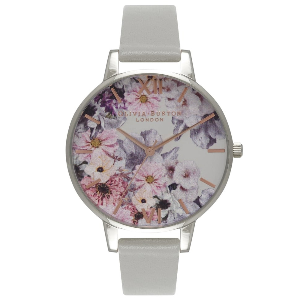 Enchanted Garden Watch - Grey & Silver