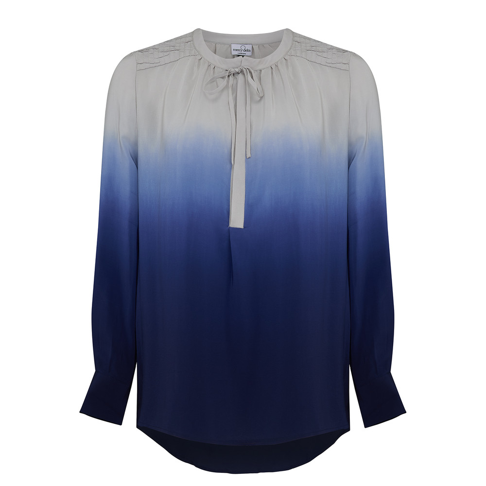Stowe Ombre Blouse - Midnight