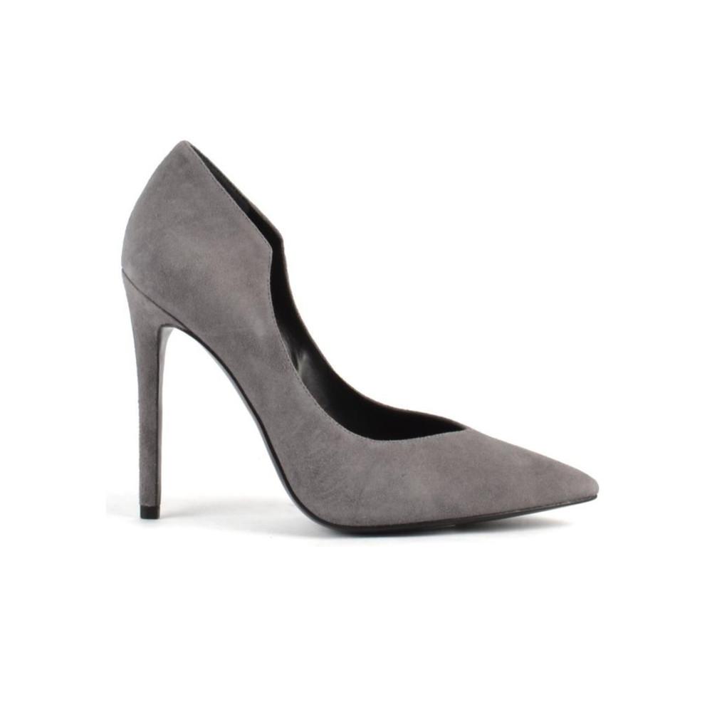 Abi Suede Heel - New Grey