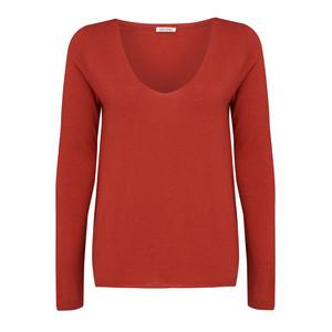 Blossom Long Sleeve Sweater - Brick