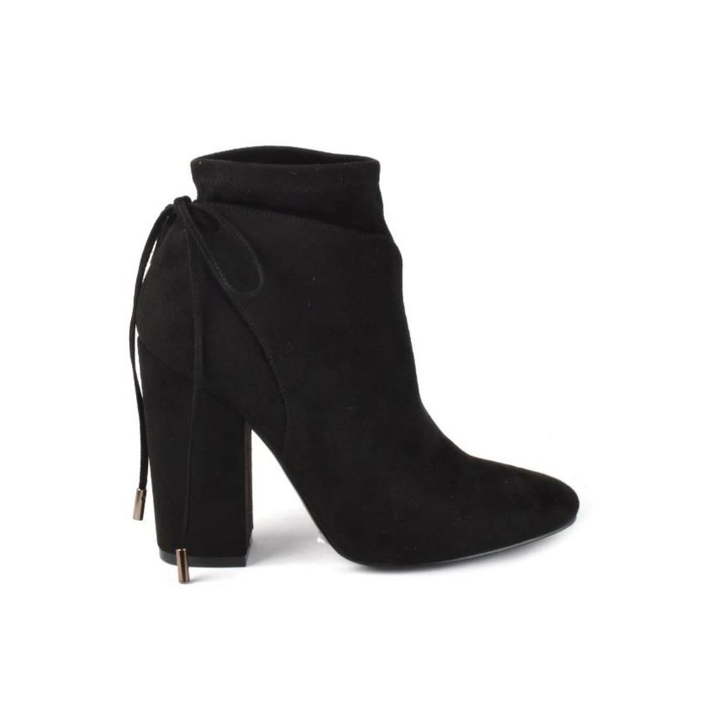 Zola Suede Boots - Black
