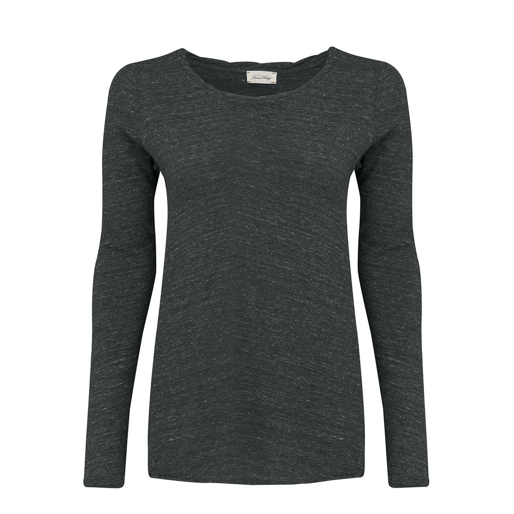 Hot Springs Long Sleeve Top - Charcoal Melange