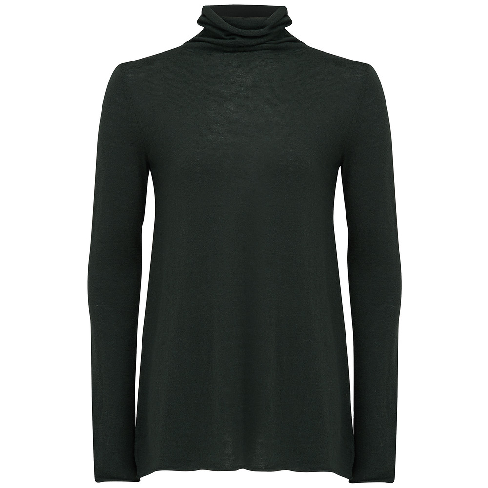 Blossom Turtleneck Jumper - Pesto