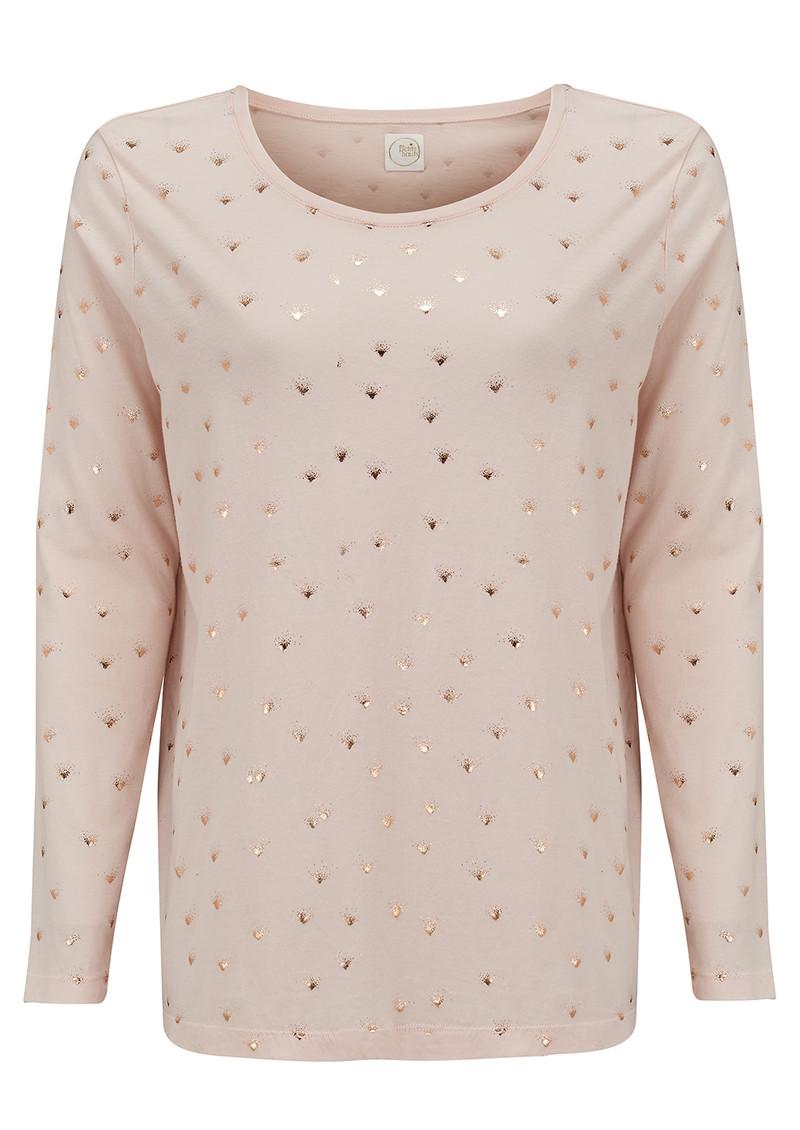 Des Petits Hauts  Grigor Long Sleeved T-Shirt - Poudre main image