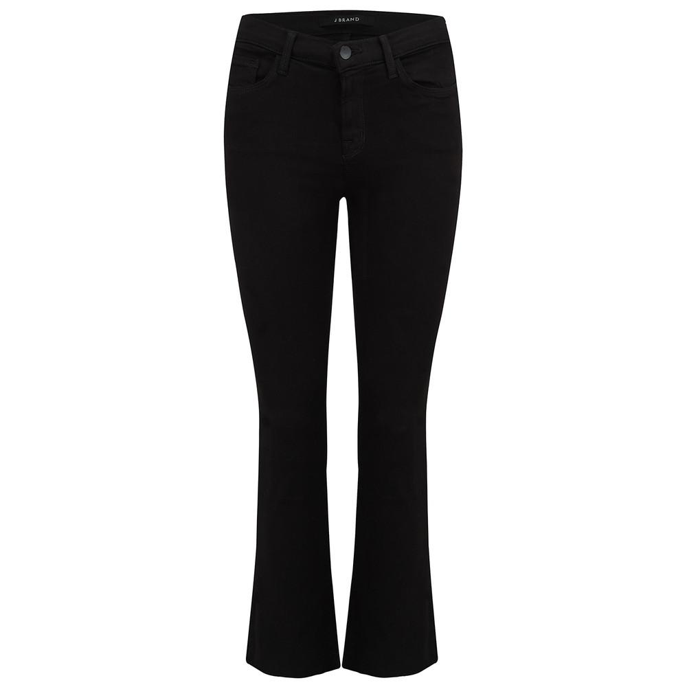 Selena Mid Rise Boot Cut Jeans - Black Bastille