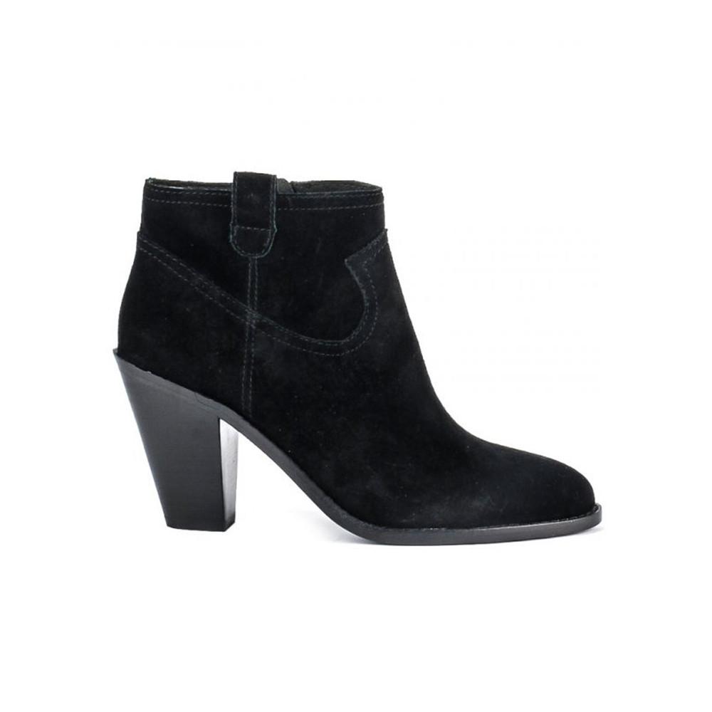 Ivana Prestige Suede Boots - Black