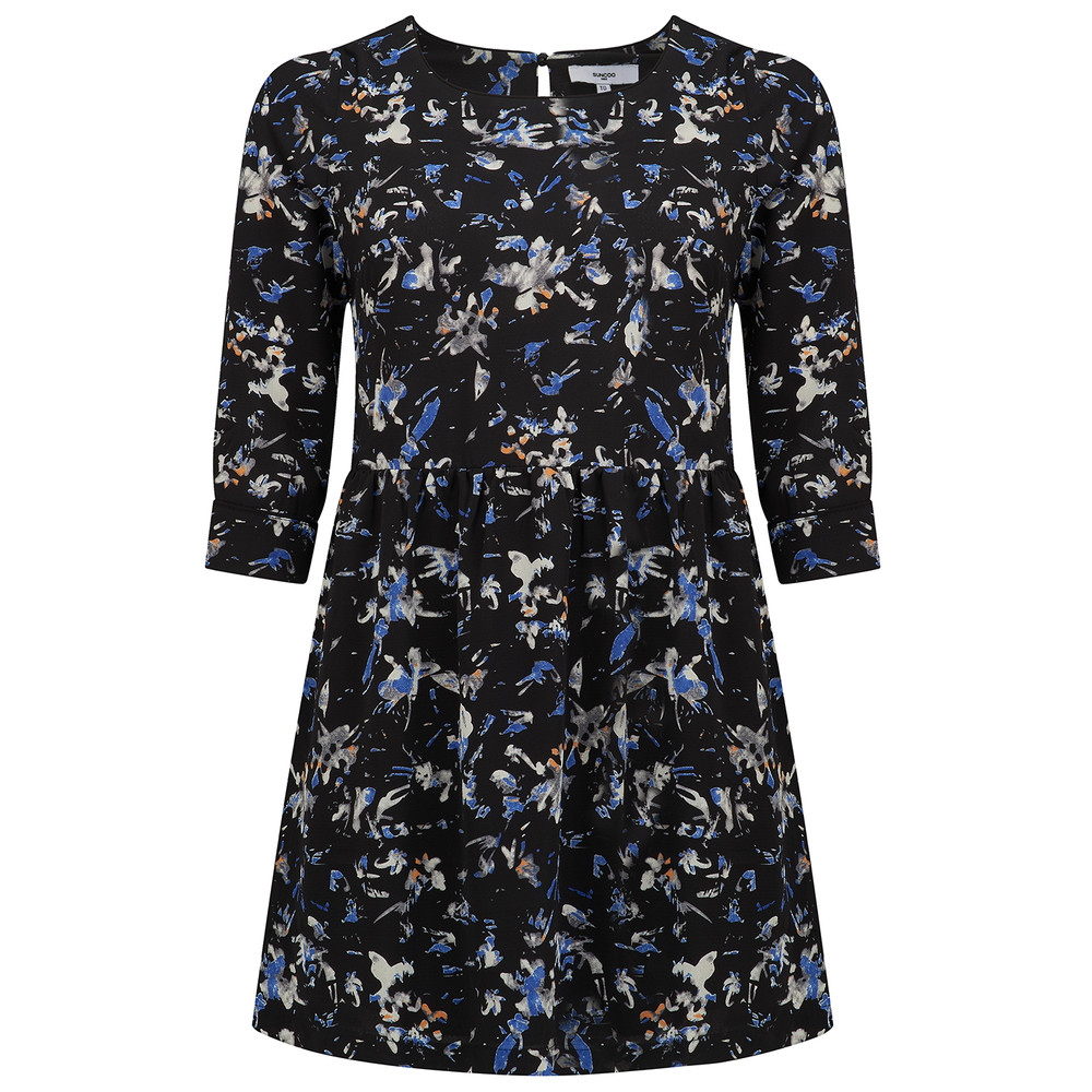 Coste Printed Dress - Blue