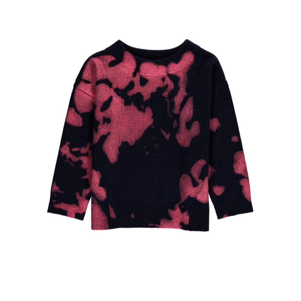 Metallique Printed Sweater - Total Eclipse