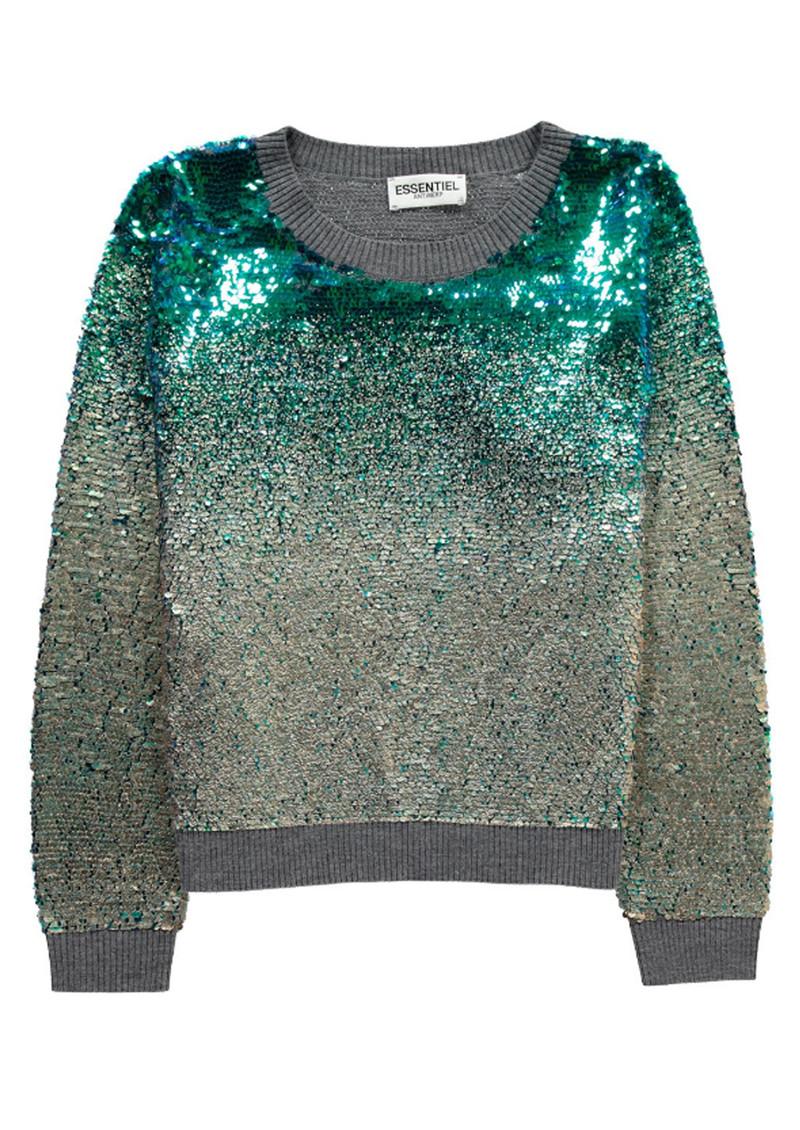 Essentiel  Murene Sequin Sweater - Jasmin Green main image