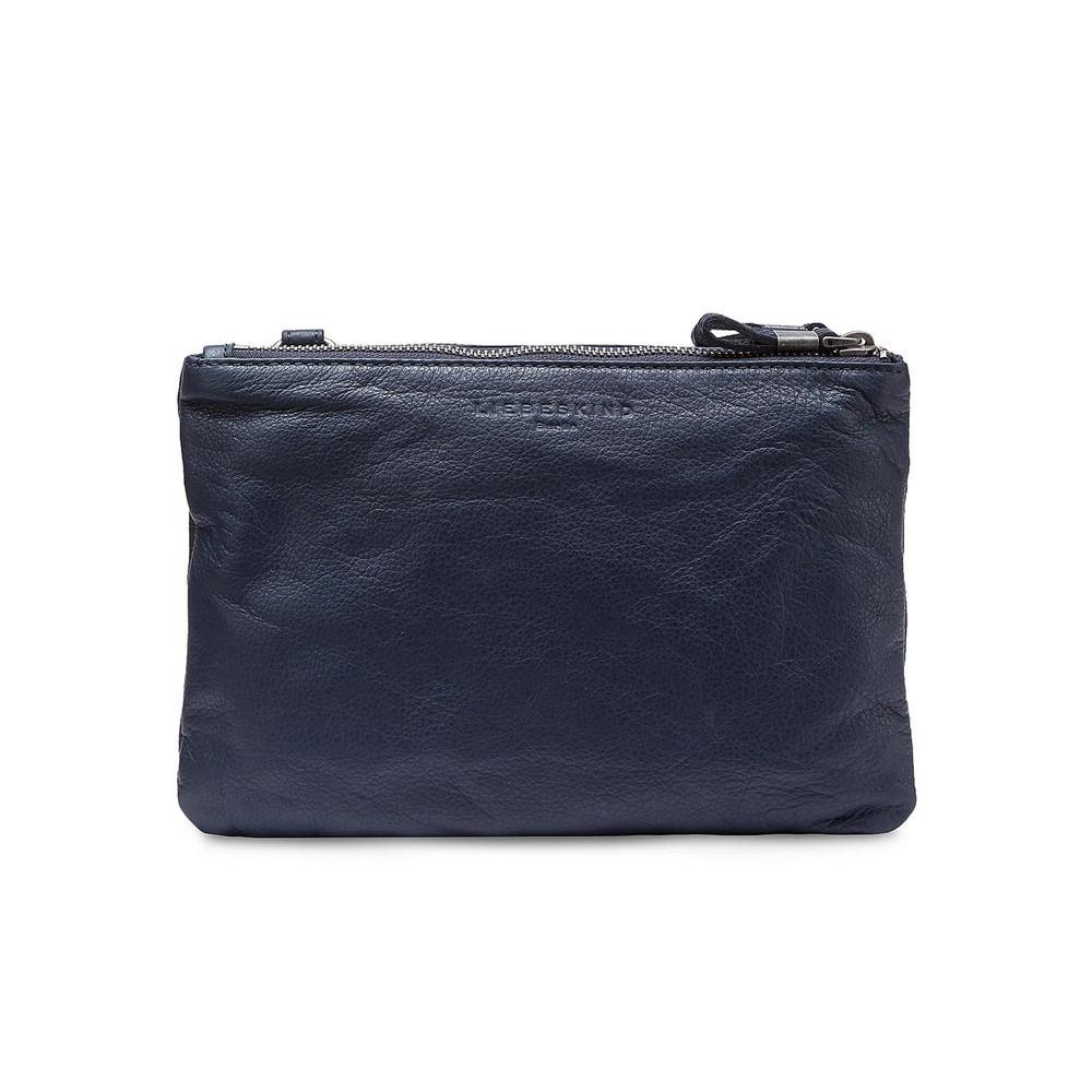 Karen Leather Bag - Dark Blue