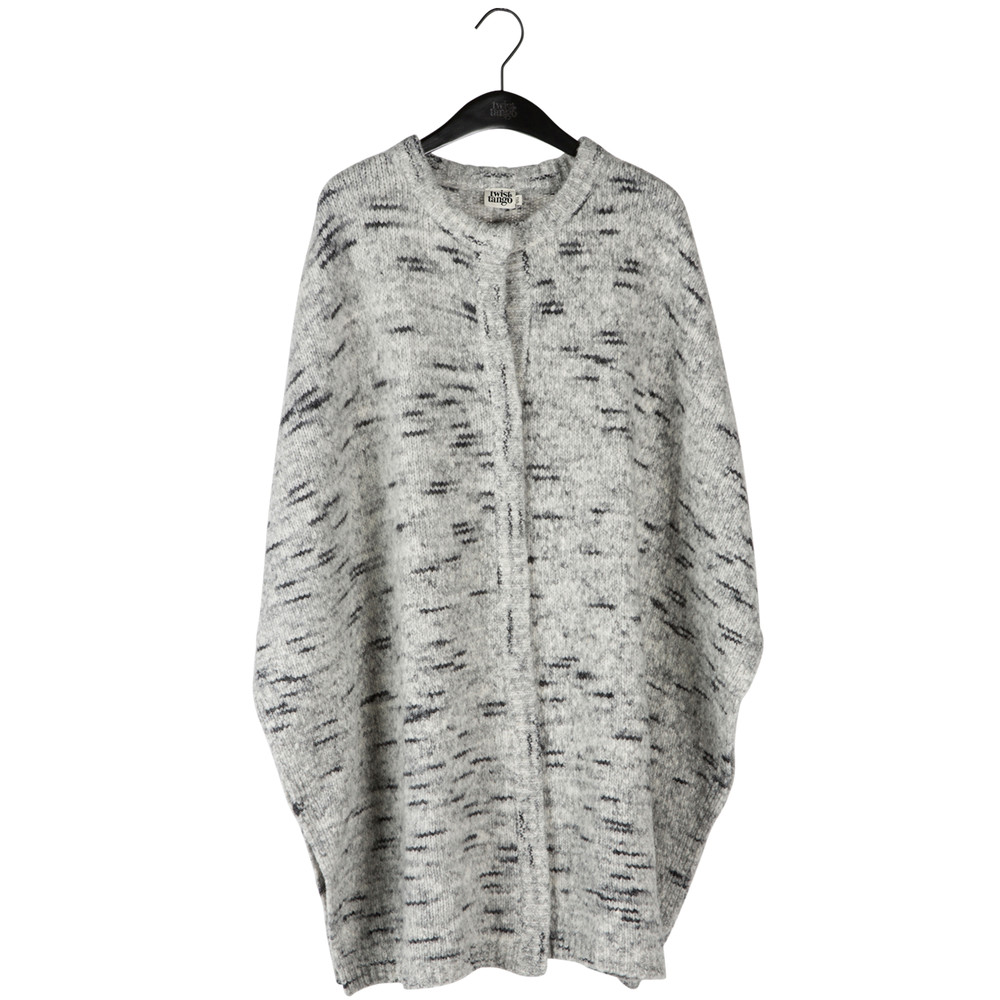 Vega Poncho Cardigan - Light Grey