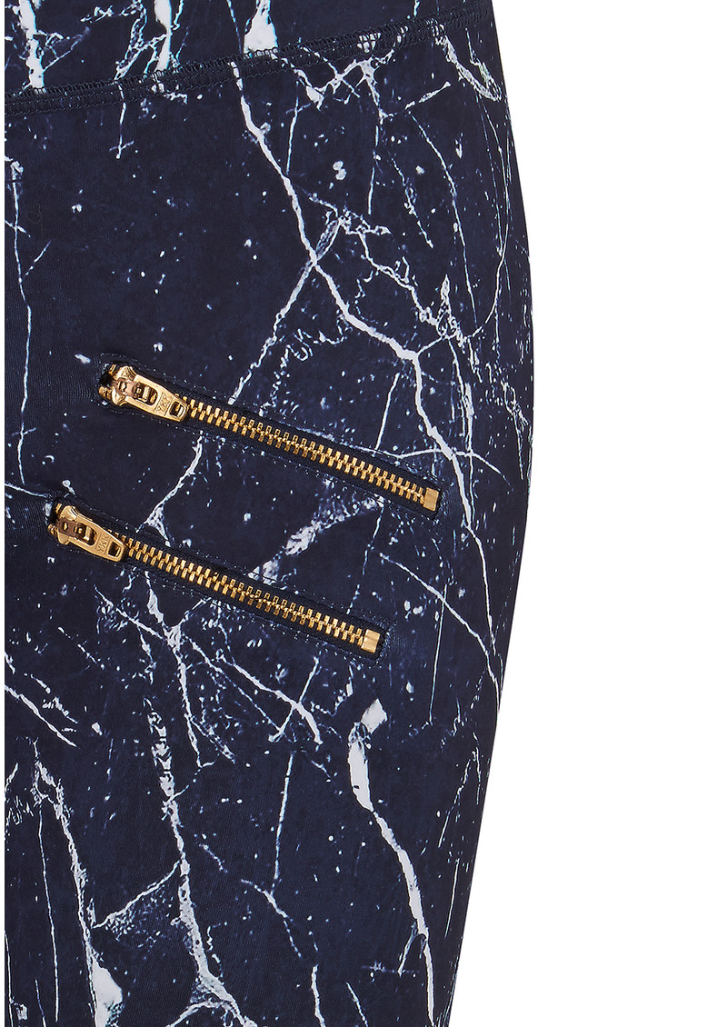 VARLEY Palms Compression Tight Leggings - Navy Marble main image