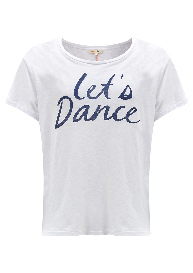 SUNDRY 'Let's Dance' T-Shirt - White main image