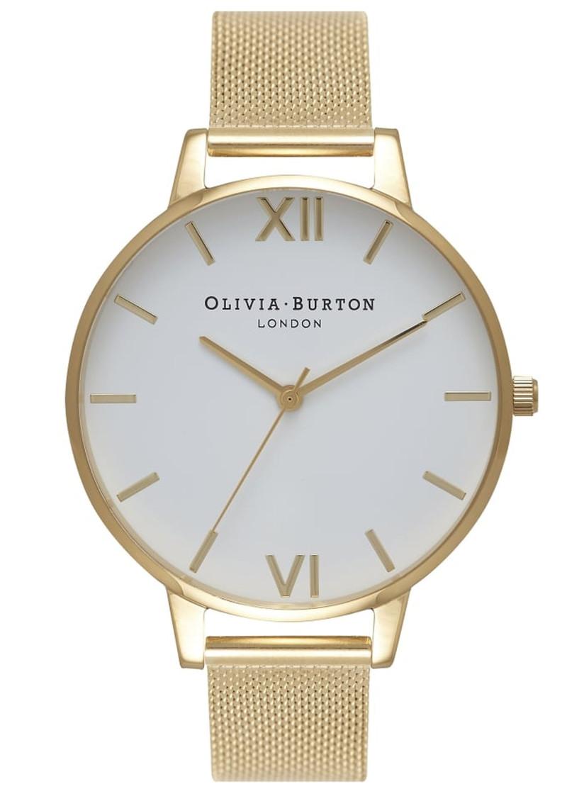 Olivia Burton Big Dial Mesh Watch - Gold main image