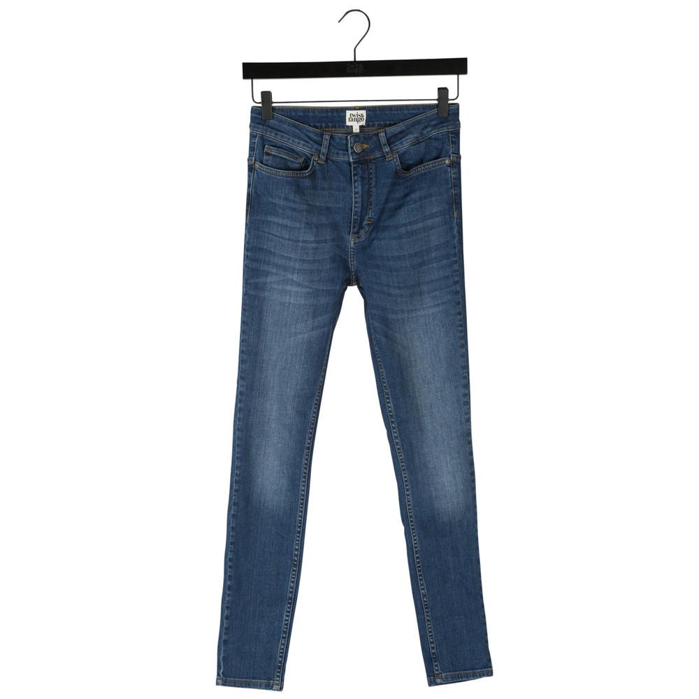 Julie Denim Trousers - Dark Blue