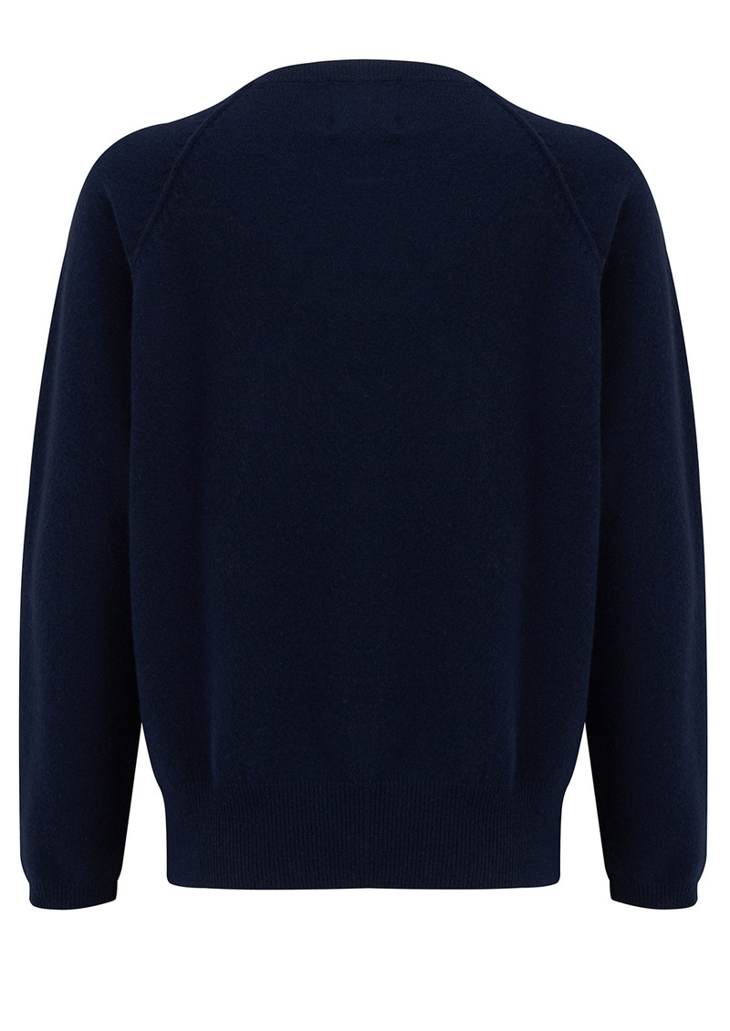 JUMPER 1234 Flamingo Cashmere Jumper - Navy main image