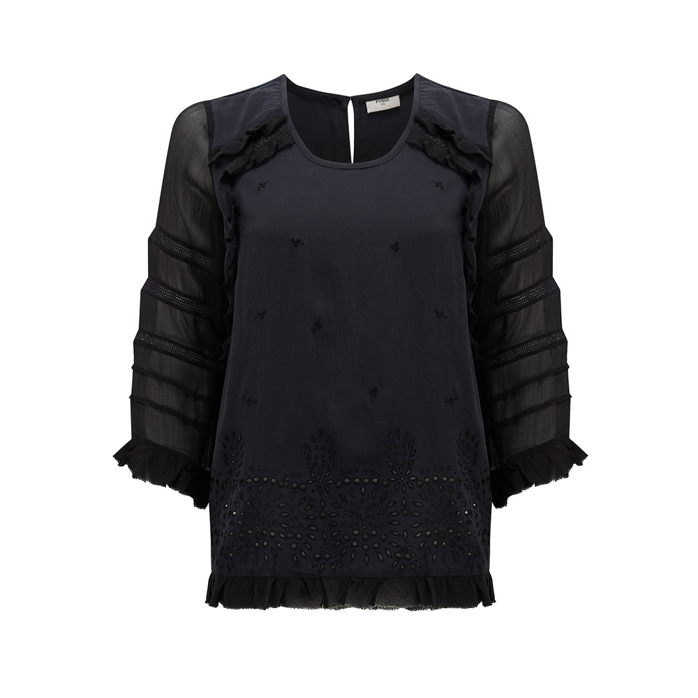 Aaya Embellished Top - Black