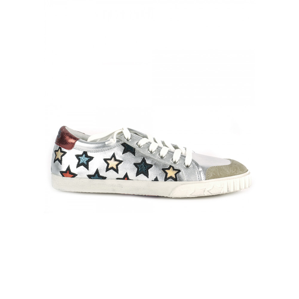 Majestic Star Motif Trainers - Silver