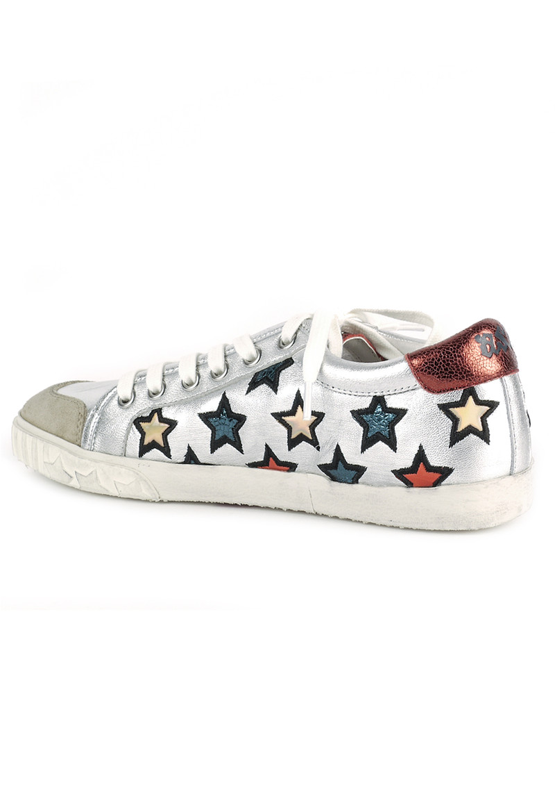Ash Majestic Star Motif Trainers - Silver main image